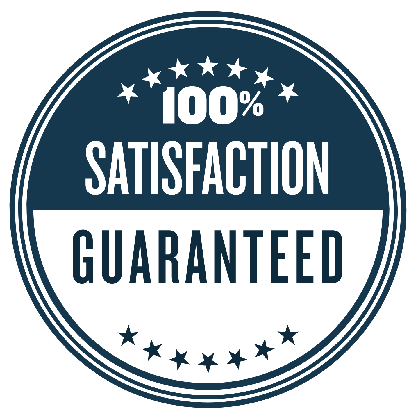 100% Satisfaction Guaranteed^