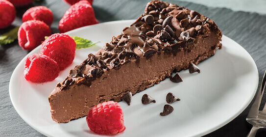 triple chocolate cheesecake image