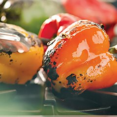 Fresh and Free Additions High Fiber Vegetables: Grilled Peppers