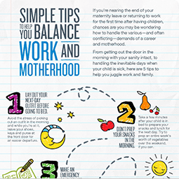 Jenny Craig Infographic: Simple Tips To Help You Balance Work and Motherhood