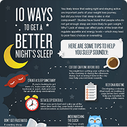 Jenny Craig Infographic: 10 Ways to Get a Better Night's Sleep