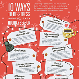 Jenny Craig Infographic: 10 Ways To Destress This Holiday Season