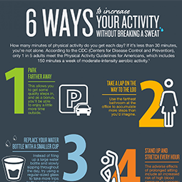 Jenny Craig Infographic: 6 Ways To Increase Your Activity Without Breaking A Sweat