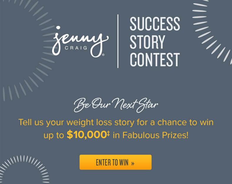 Success Story Contest: Tell us your weight loss story for a chance to win up to $10,000‡ in Fabulous Prizes!