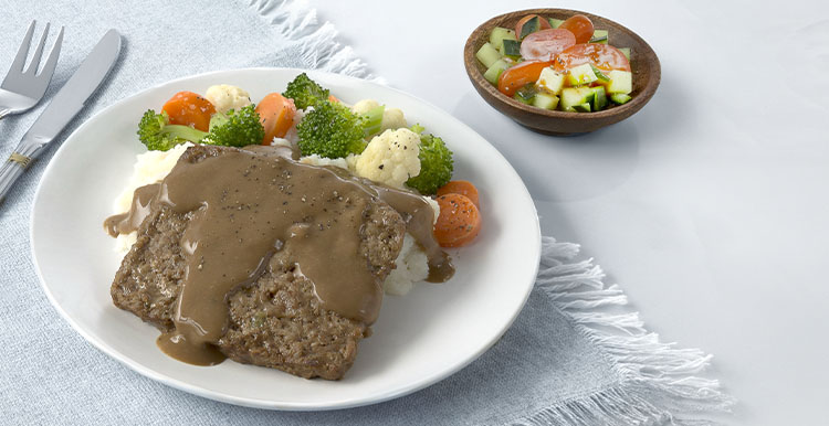 Homestyle Meatloaf and Vegetables