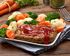 Jenny Craig Food: Meat Loaf with BBQ Sauce
