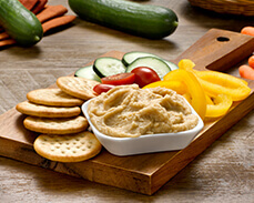 Jenny Craig food: Classic Hummus and Wheat Crackers