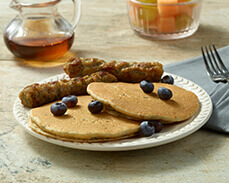 Jenny Craig Food: Blueberry Pancakes and Sausage