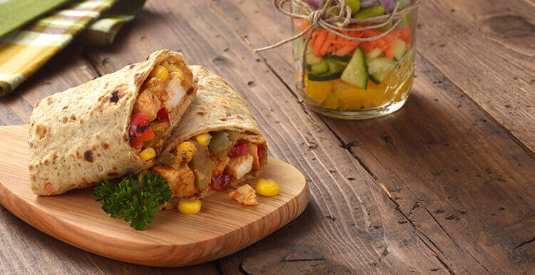 Chicken Wrap with BBQ Sauce