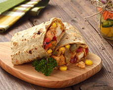 Jenny Craig food: Chicken Wrap with BBQ Sauce