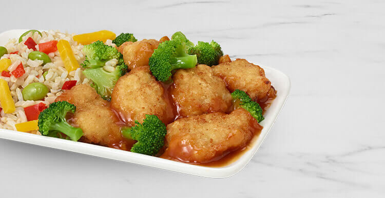 Orange Chicken with Vegetables & Brown Rice