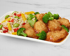 Jenny Craig food: Orange Chicken with Vegetables and Brown Rice
