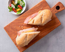 Jenny Craig Food: Ham and Swiss Baguette