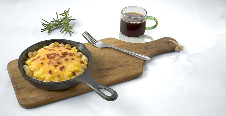 Cheesy Egg & Bacon Skillet