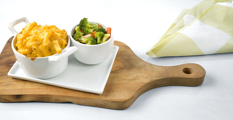 Three Cheese Macaroni with Broccoli & Carrots
