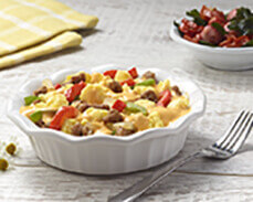 Jenny Craig Food: Cheesy Egg & Sausage Scramble