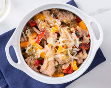 Jenny Craig Food: Slow-Cooked Carnitas and Peppers