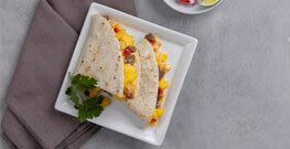 Cheesy Egg & Steak Quesadilla