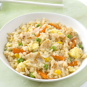 Cauliflower Fried Rice with Chicken and Vegetables
