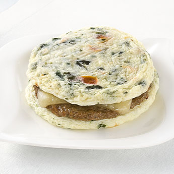 Egg White & Vegetable Frittata Stack